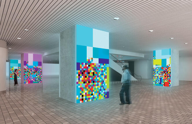 "Ivan Toth Depeña  ""Reflect,"" Permanent Public Art Installation for Stephen P. Clark Government Center Lobby"