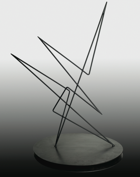 Abstraction, 1953. Iron. 38.22 in. Abstracción, 1953. Hierro. 98 cm.