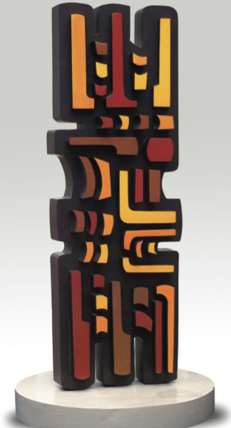 South America, 1991. Painted Wood. 35.1 x 10.92 x 5.85 in. América del Sur, 1991. Pintura sobre madera. 90 x 28 x 15 cm