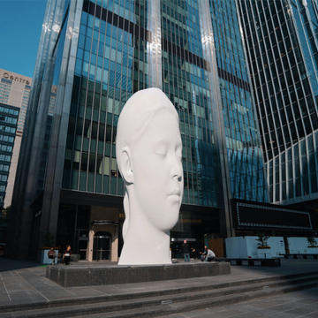 DREAMING, JAUME PLENSA'S SCULPTURE, FEATURES IN TORONTO