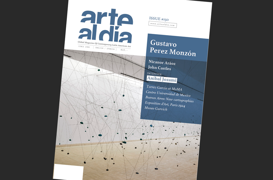 Gustavo Pérez Monzón on the cover of Arte al Día next issue