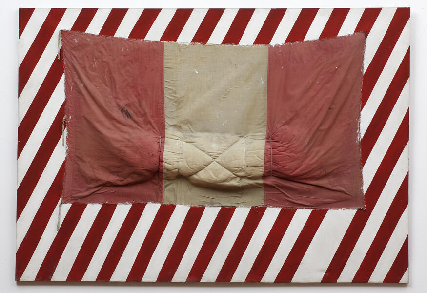 Eduardo Tokeshi, Bandera Uno, 1985. Latex on canvas, 55.1 x 78.7 x 5.51 inches. Courtesy of the artist